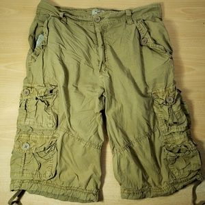Cargo Shorts - Mens 34 - Khaki - Long -Lightweight